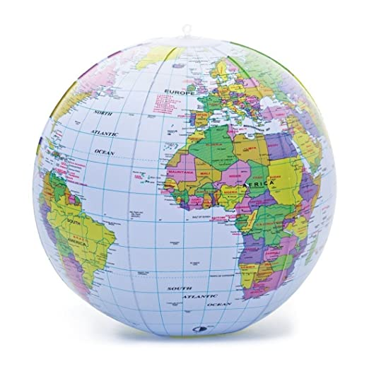 Nueva hinchable Blow Up Globo 40 cm Atlas mapa del mundo ...