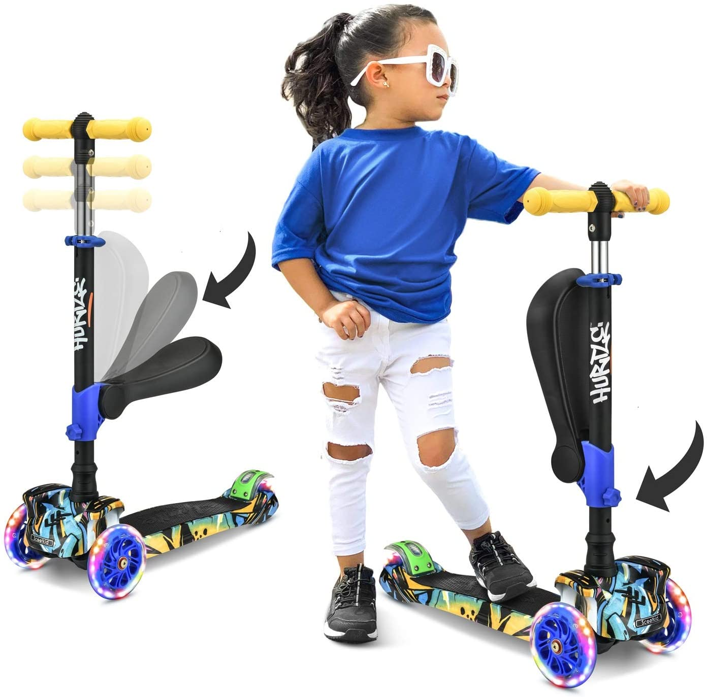 Hurtle 3-Wheeled Kids Scooter