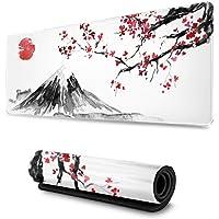 Gaming Muismat Japan Inkt Schilderen Berg Sakura Zon Comfortabel Uitgebreide Grote Muismat Waterdichte Toetsenbord Mat…