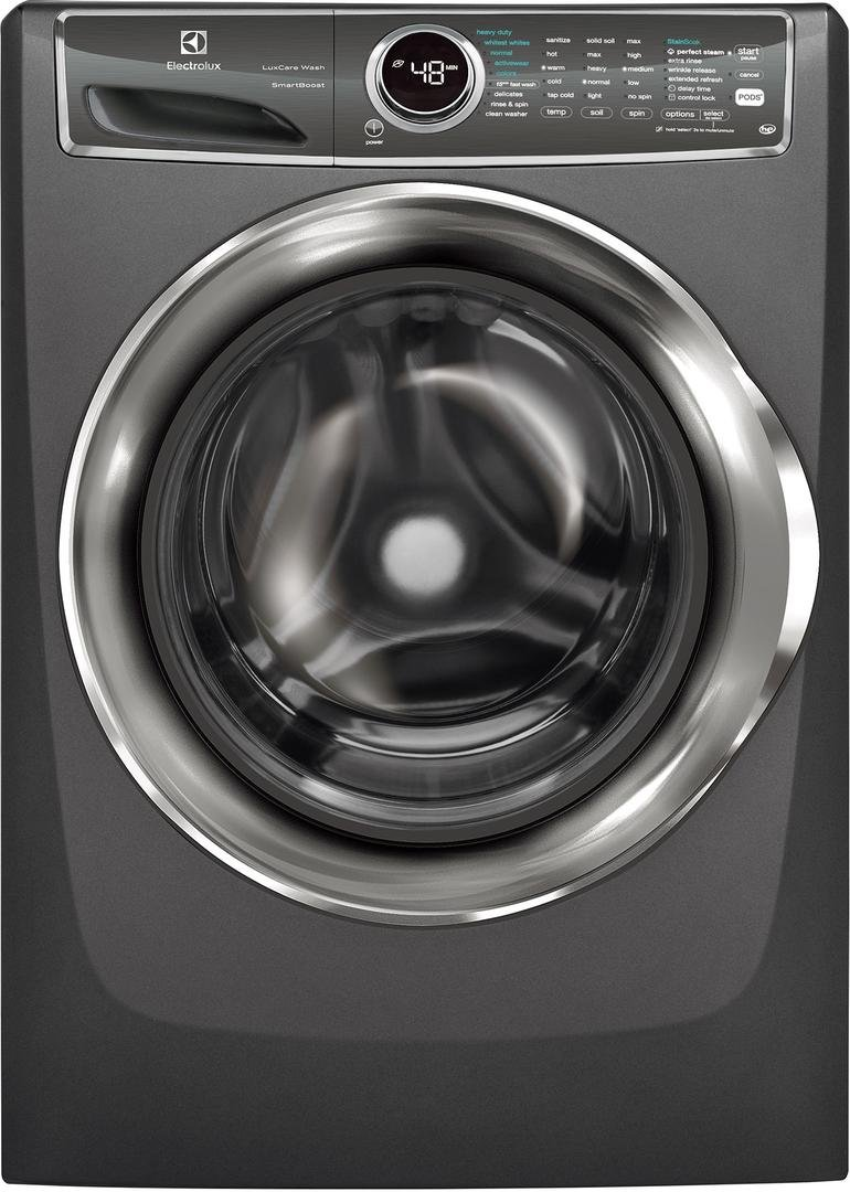 Electrolux Titanium Front Load Laundry Pair with EFLS627UTT 27 Washer and EFME627UTT 27 Electric Dryer