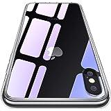 CASEKOO iPhone XS Max ケース クリア 新型ガラスケース 全面保護カバー アイフォン XS Max ケース 透明 ハードケース 耐衝撃 qi対応 ストラップホール付き