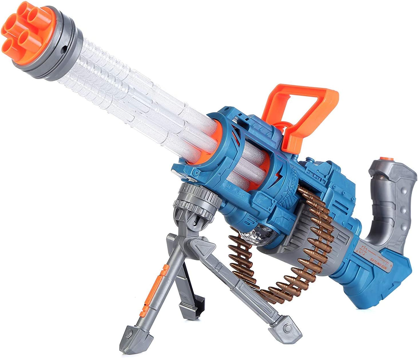 Thunder Fire Heavy Machine Toy Gatling Gun with LED Lights and Battle Sounds
