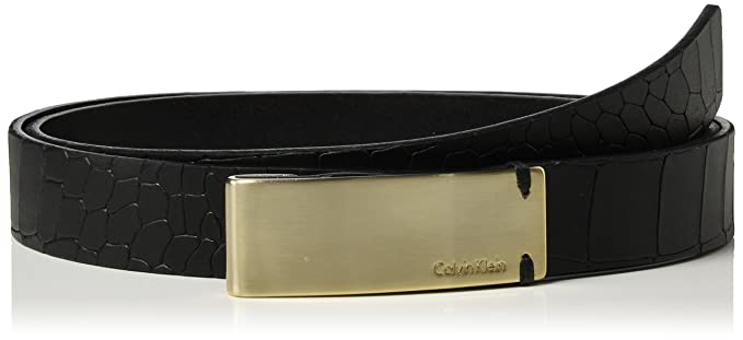 Calvin Klein Curved Plaque Belt, Ceinture Femme, Noir (Black), X-Small  (Taille Fabricant  80)  Amazon.fr  Vêtements et accessoires 6e9fd89a1e2