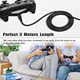 6amLifestyle PS4 Controller Charging Cable 2 Pack / 10FT, Charge and Play, Micro USB Charger High Speed Data Sync Cord for Sony Playstation 4 PS4 Slim/Pro Controller, Xbox One S/X Controller, Android