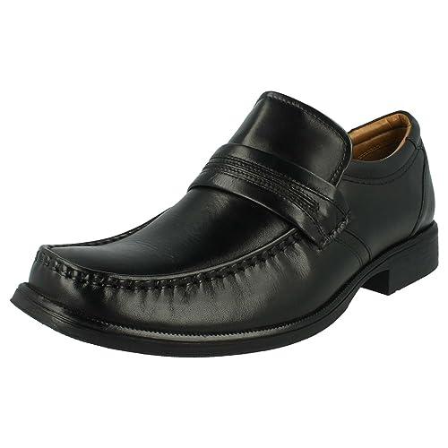 Clarks - Mocasines para hombre negro negro, color negro, talla 41.5