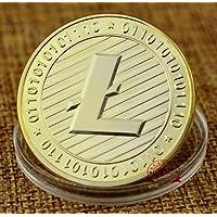 ILOVEDIY Litecoin Collection Cuivre Fer Miner Commémorative Coin cadeau (Or)