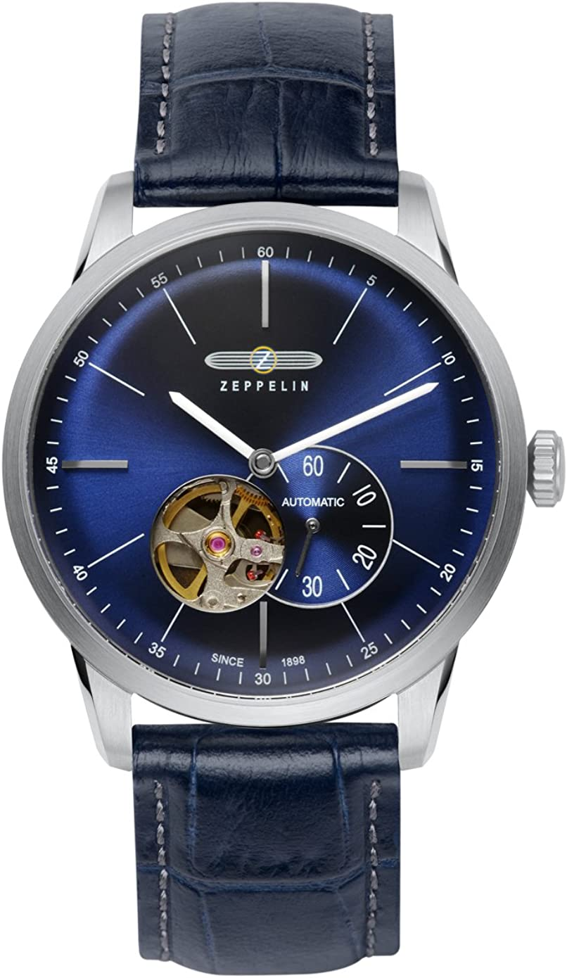 Zeppelin Flatline 7364-3 Automatic - Open Heart (Balance) Watch