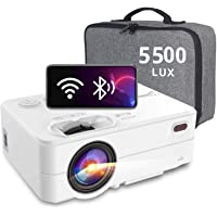 WiFi Bluetooth Projector Artlii Enjoy 2 Mini Projector Full HD 1080P Supported and 300'' Display, 5500L Native 720P…