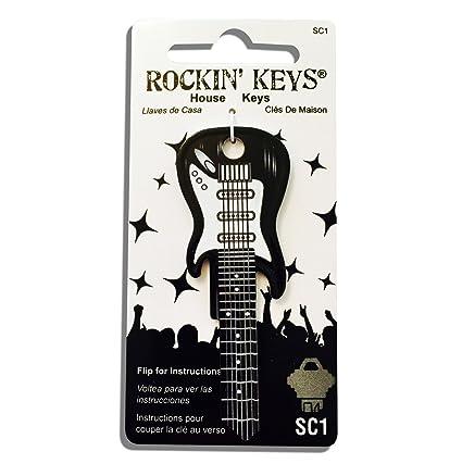 Amazon.com  Black Electric Guitar Shaped Rockin  Key - SC1  Musical  Instruments 3eefe45c0