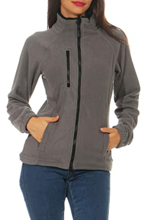 Happy Clothing Damen Fleecejacke Microfleece Outdoor Jacke Ohne