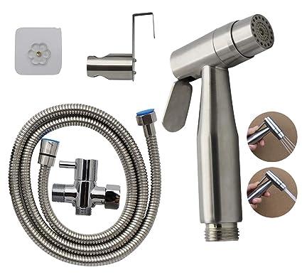Home Improvement Handheld Bidet Toilet Sprayer Kit Bathroom Cloth Diaper Washer Portable Shower Sprayer Stainless Steel Spray For Personal Hyg