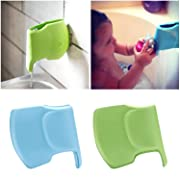 2 Pack Bath Spout Faucet Cover for Baby Safety, Tub Faucet Extender Protector for Baby, Elephant Shape Bathtub Cover Bath Toys for Kids, Soft and Flexible Faucet Cover