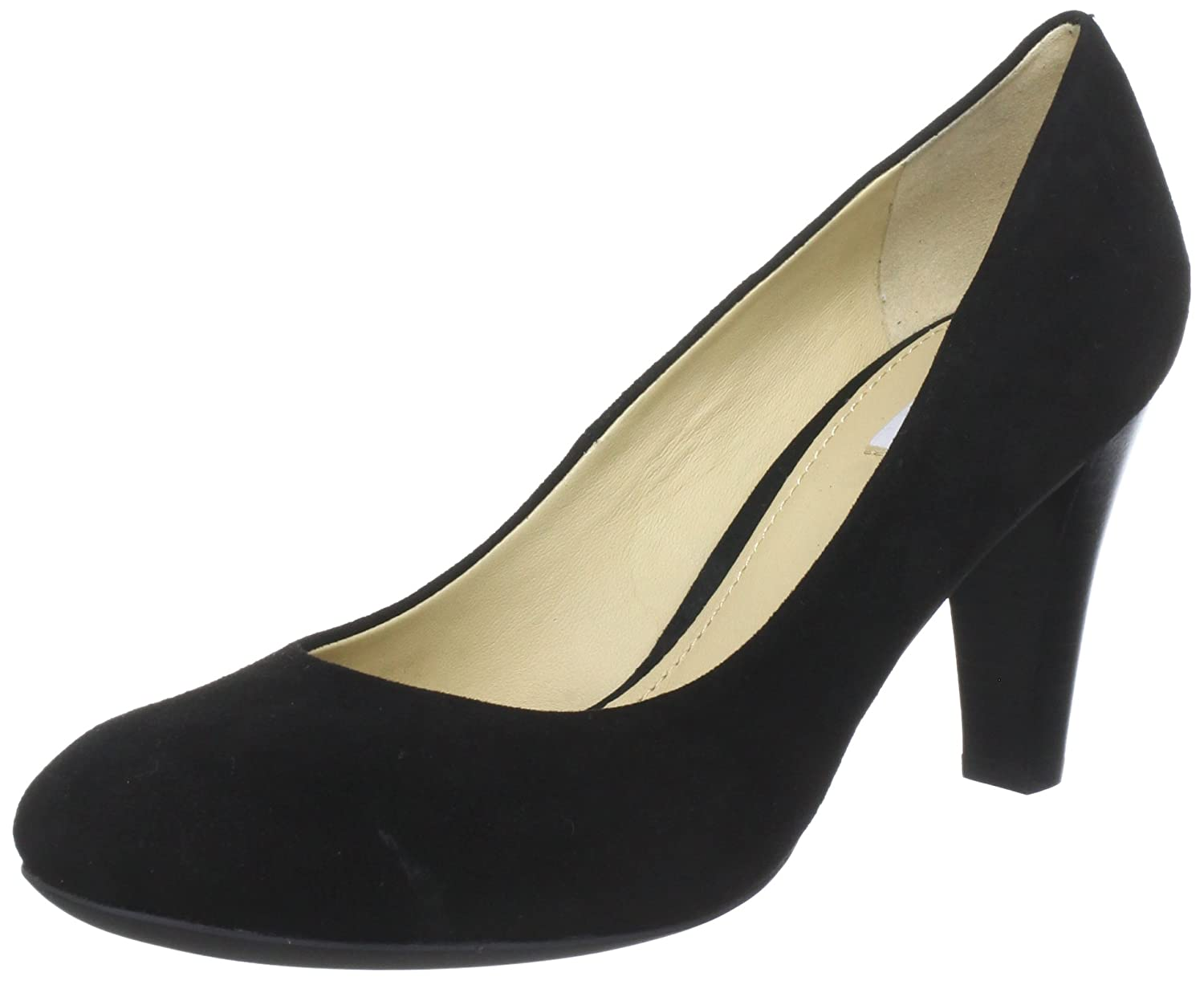 huge selection of 8394b eb28f Geox Women's Marie Claire High Leather Dress Pump, Black, 40 ...