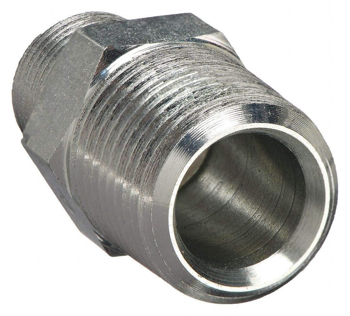 Hex Nipple,1//8in.x1//8in.,NPT,9700 psi PARKER 2-2 MHN-S