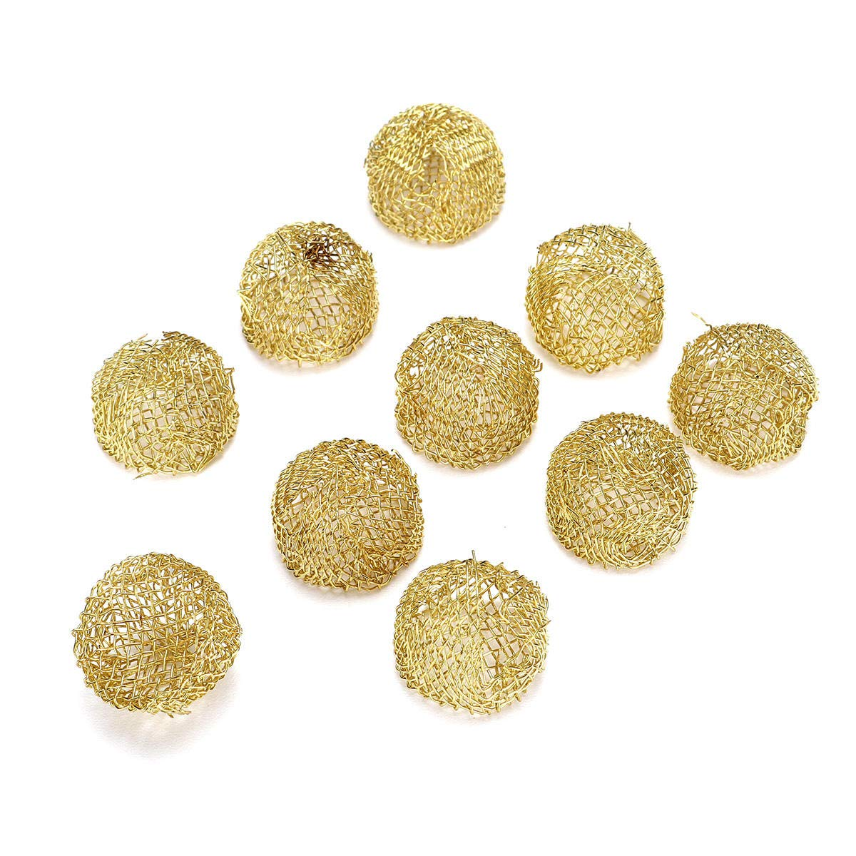 17mm 10Pcs Pipe Screen Filter Ball Combustion-supporting Reticular Ball Replacement Tools Kit