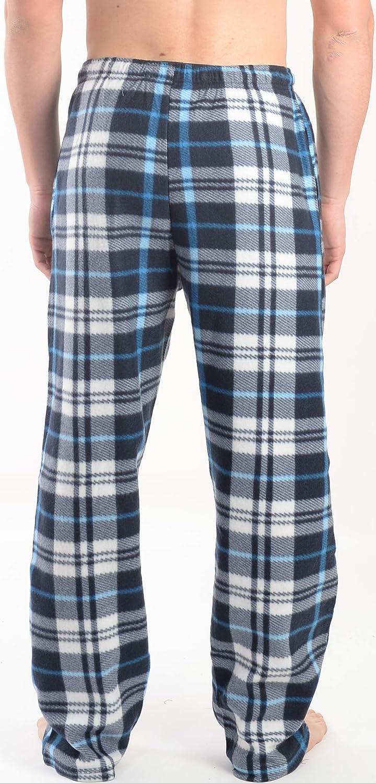 Active Club 2 Pack Mens PJ Microfleece Pajama Lounge//Pants Set Sleepwear PJs-with Pockets 876