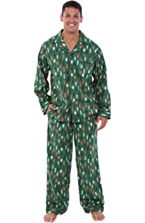 Alexander Del Rossa Mens Cotton Striped and Plaid Pajamas, Long Woven Pj Set