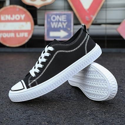 YaNanHome Zapatos para Hombre/Alpargatas Zapatos de Lona de Estilo Coreano Zapatos de Tendencia Zapatos