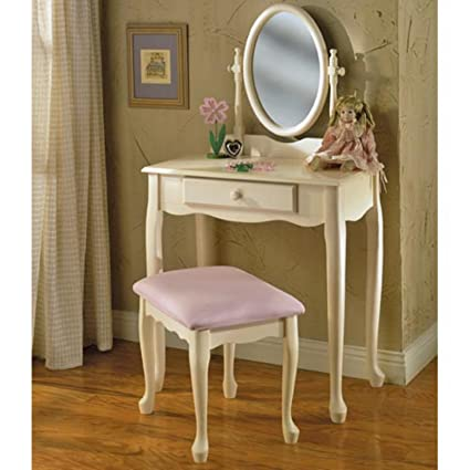 Amazon.com: Care 4 Home LLC Bedroom Vanity Set, Table Desk ...