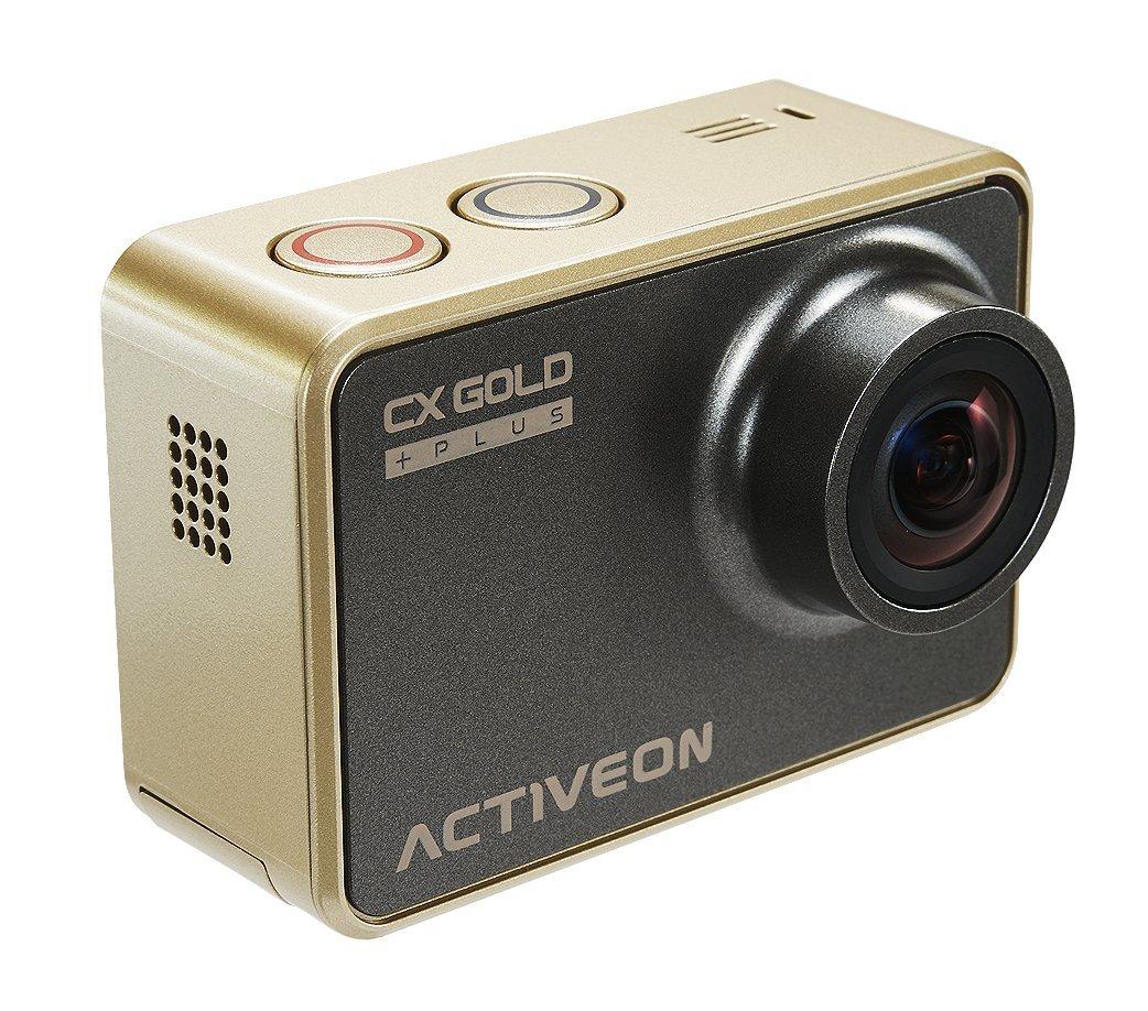 ACTIVEON CX Gold Plus GCB10W Action Kamera (14 Mega Pixel, CMOS Sensortyp, LCD Display, 60 FPS) gold