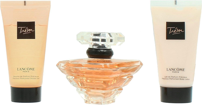 Lancôme Tresor Agua de Perfume + Gel de Ducha + Loción Corporal - 1 Pack: Amazon.es: Belleza
