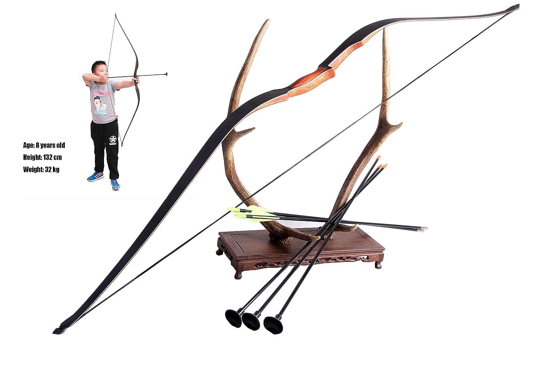 FlyArchery Handmade Kids Recurve Bow Longbow Children Junior