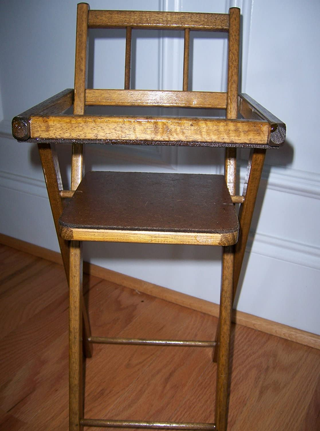 Vintage wooden high chair - Vintage Wooden High Chair 42