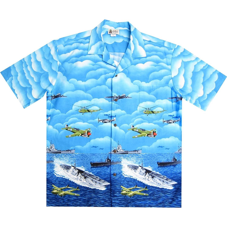 Aloha Republic SHIRT メンズ B07CTCKR6C  ブルー Large