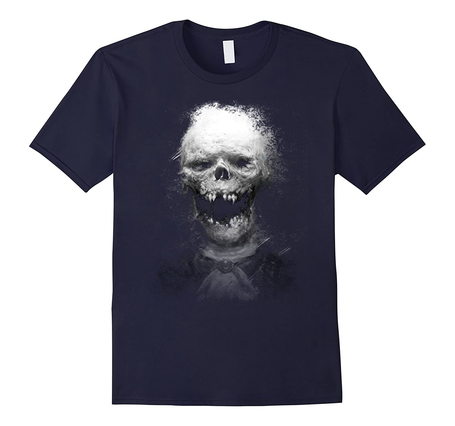 3D Skull Scary Halloween T shirt-RT