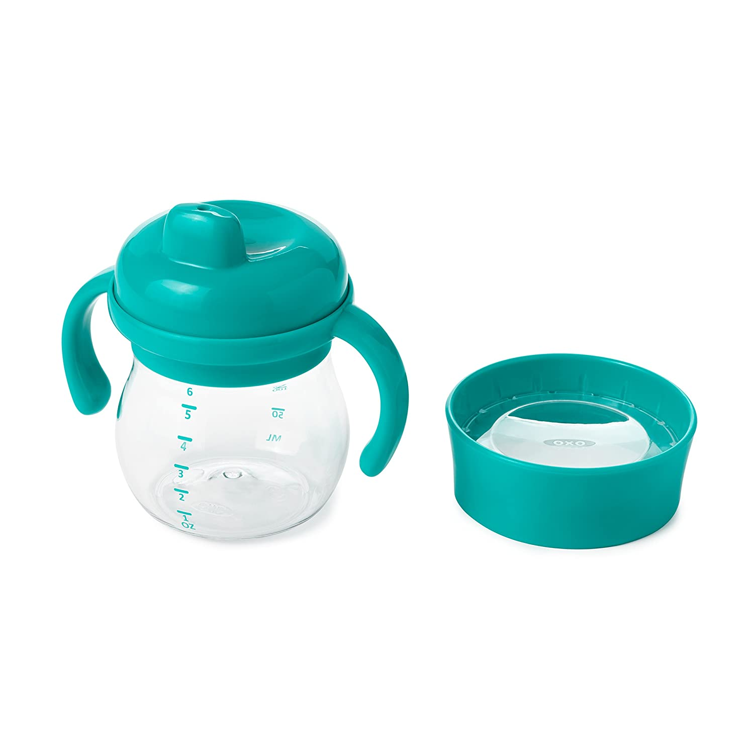 OXO Tot Transitions Sippy Cup Set, Teal, 6 Ounce 61134200