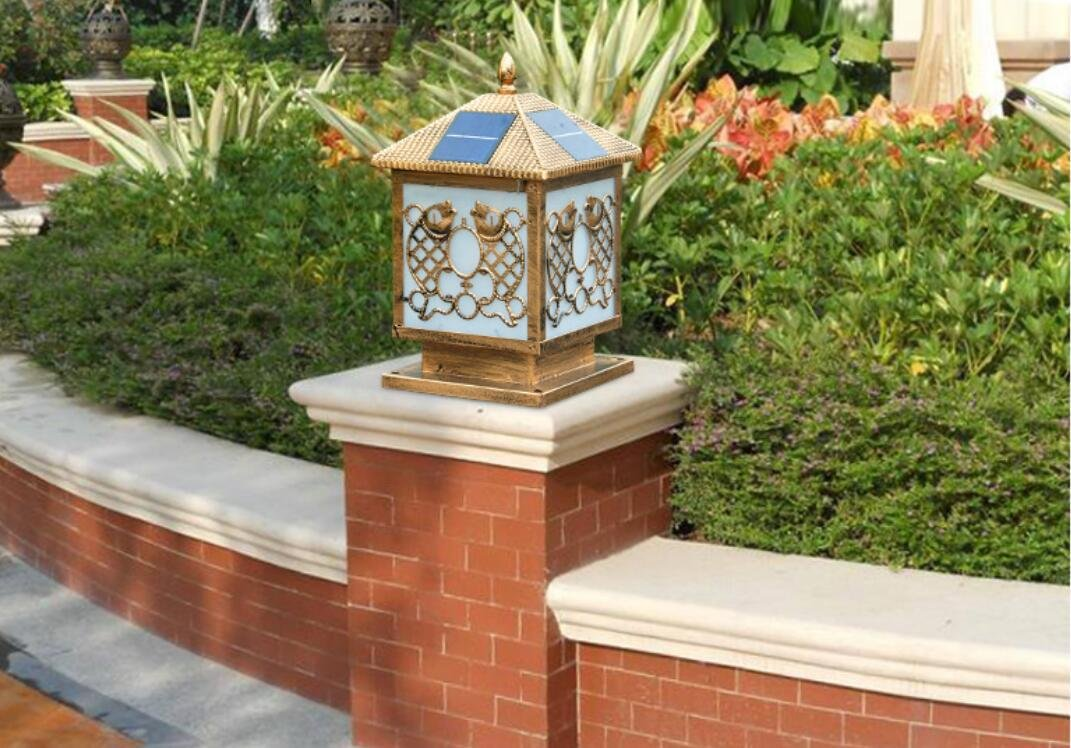 WWJ/ Solar pillar lamp post lights/wall lights/gate/door outdoor garden lighting/home outdoor wall light