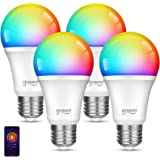 Smart Wifi Light Bulb Gosund LED WiFi RGB Color Changing Bulbs that Works with Alexa Google Home Assistant, E26 A19 8W Multic