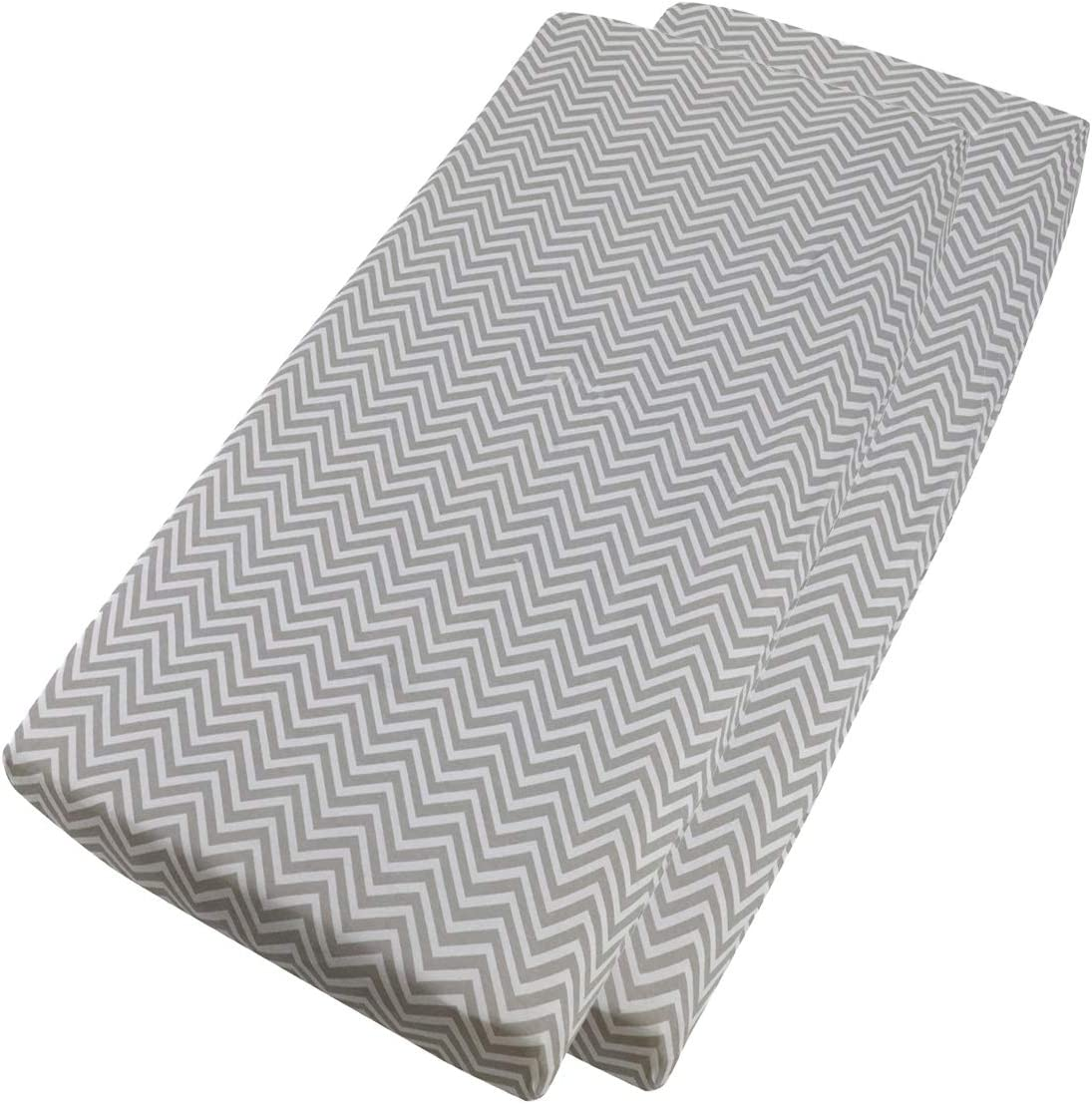 Cot Bed Fitted Sheet 100/% Cotton 140x70cm 2X Chevron