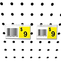 "Pegboard Label Holder, Scannable UPC Ticket Display with Slot for Peg Wall, 2.5"" L x 1.25"", 20 Pack"
