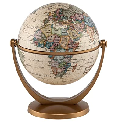 "Waypoint Geographic GyroGlobe 4"" Classic Oceans - UP-TO-DATE Compact Mini Globe Swivels in All Directions - Perfect for Small Spaces at Home, Office & Classroom: Home & Kitchen"