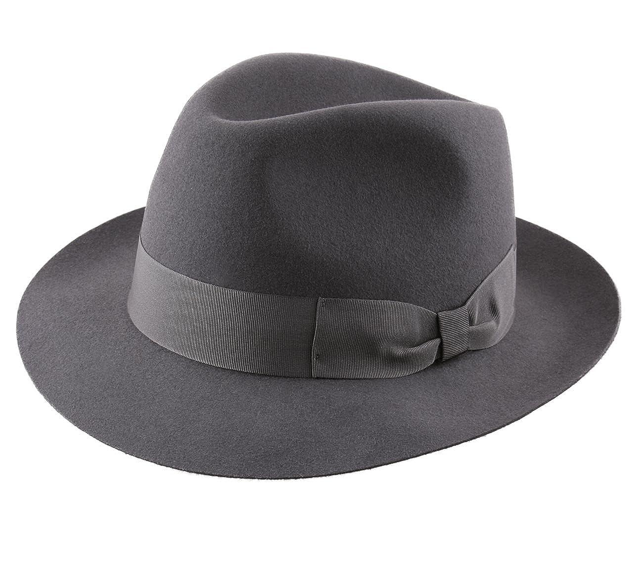 Classic Italy Heritage Bogart Wool Felt Fedora Hat at Amazon Men s Clothing  store  46834dd0488