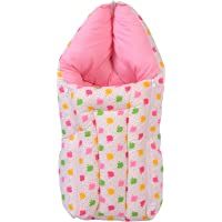 Toddylon® New Born Baby Sleeping Bag Cum Baby Bed/Carry Bag/Baby Carrier Or Wrapper - Pink (0-6 Months)