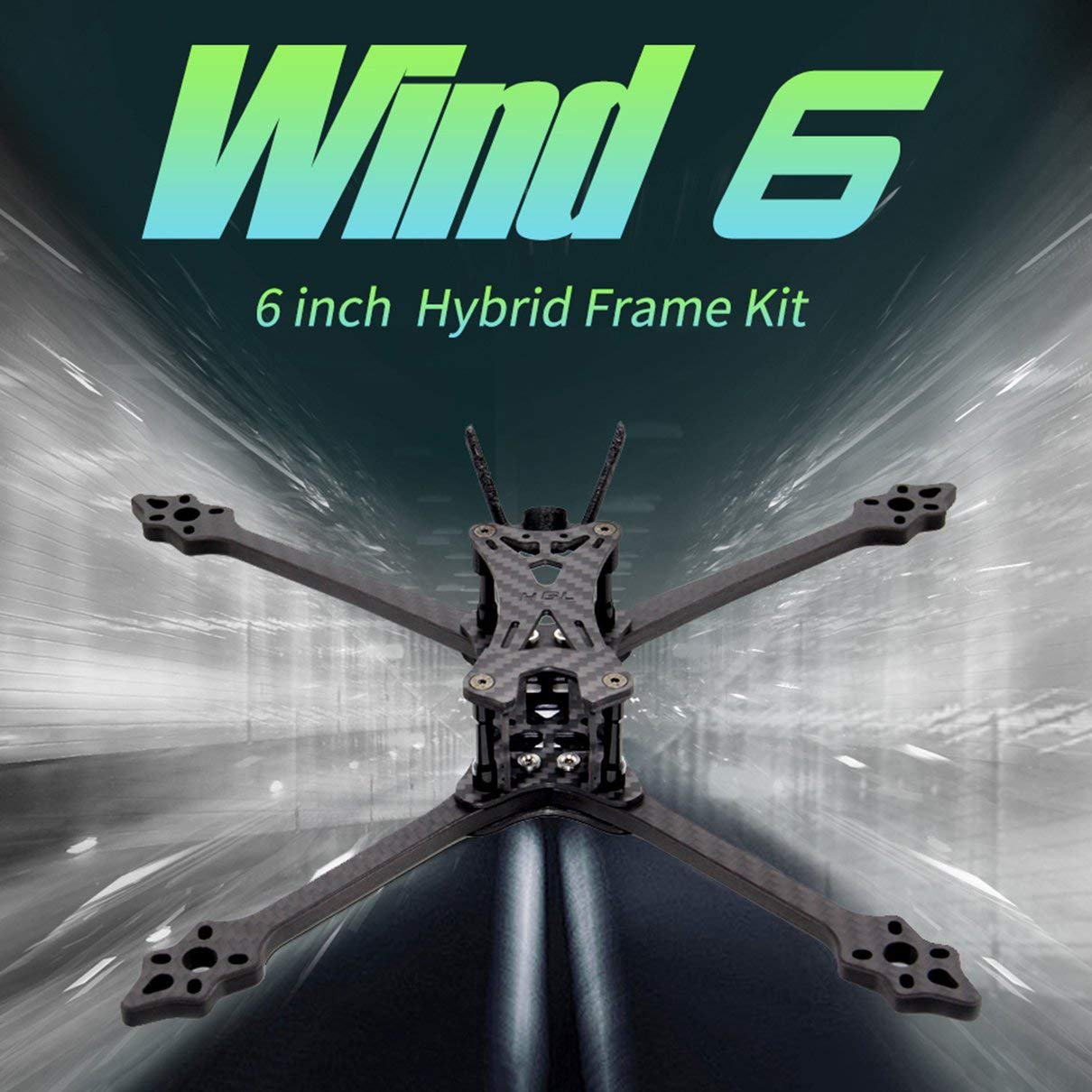 HGLRC Wind 6 Hybrid FPV Racing Drone Kit de Marco Duradero Brazos ...