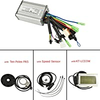Pswpower 36V/48V 1000W-1500W 12Mosfets 35A Brushless DC Couple Simulation carré Wave contrôleur avec KT-LCD