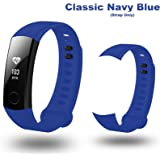 Iloft Replacement Silicone Sports Waterproof Band Wrist Strap For Huawei Honor Band 3 Smart Activity Tracker(Classic Navy Blue)(Tracker not Included)(Strap Only)(Installation kit Included)