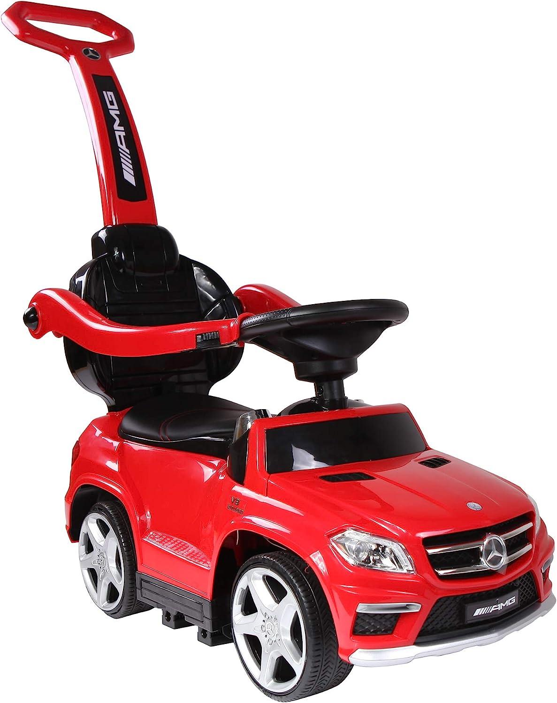 Best Ride auf Cars 4 In1 Mercedes Push Car, Red