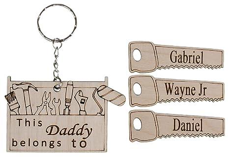Llavero de recuerdo para papá, abuelo, tío, con diseño de ...