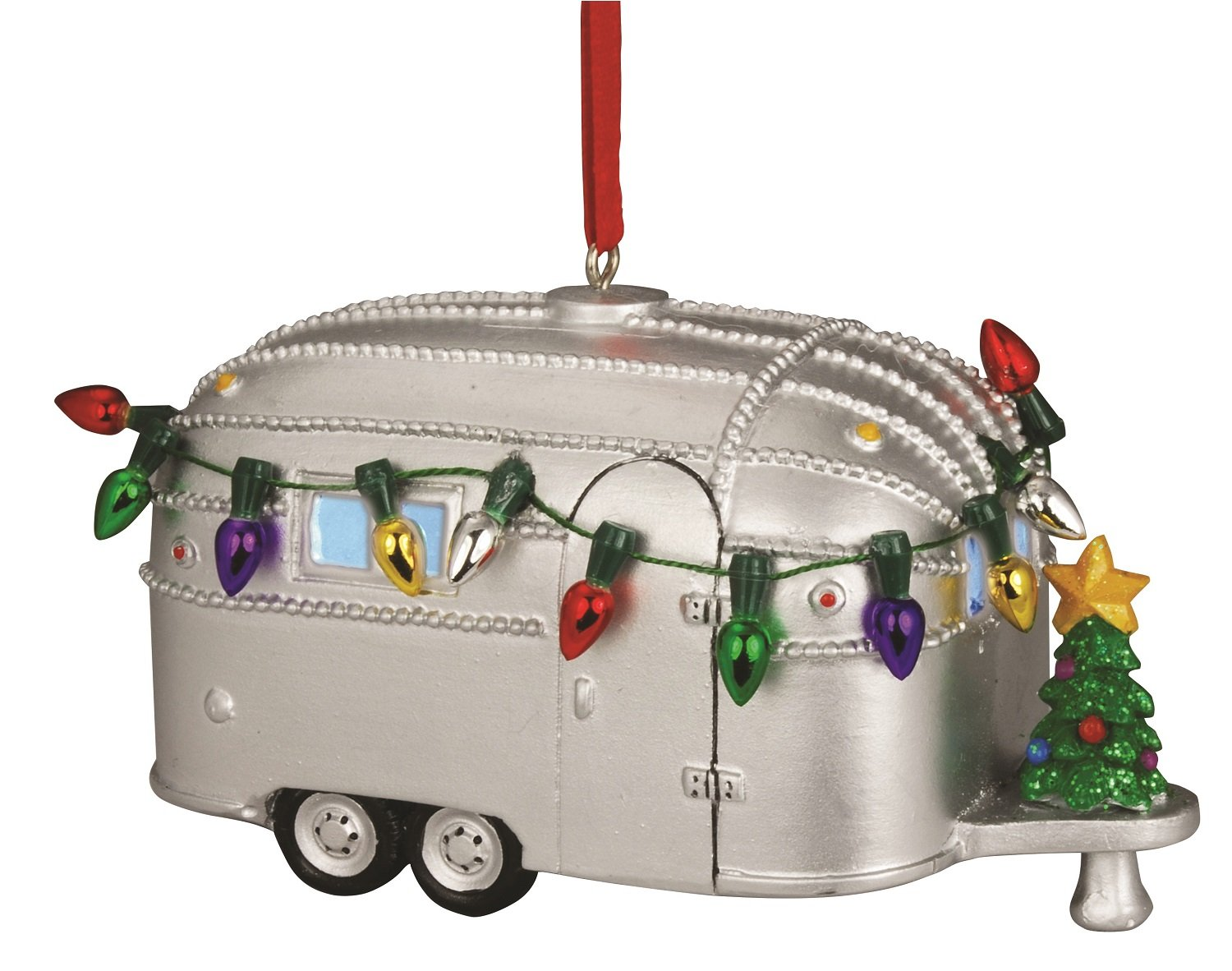 Retro Metal Christmas Camper Ornament. Here are some of the best Vintage Christmas Decor Ideas I've found this year. #AbbottsAtHome #ChristmasDecor #ChristmasIdeas