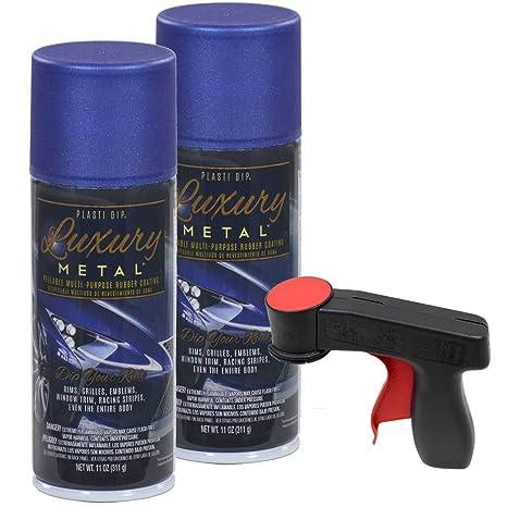 Plasti Dip Luxury Metal Spray, 2, 11oz Cans with Cangun Trigger (Ultrasonic  Blue Metallic)