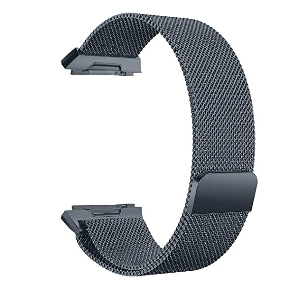 V-MORO Fitbit Ionic Band Milanese Loop Mesh Band Accessory Replacement Stainless Steel Bracelet Strap for Fitbit Ionic Smartwatch Women Men (Large, ...