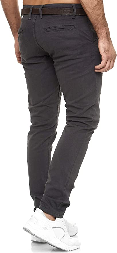 Elara Chino Pantaloni Uomo Regolare Stile Elasticizzato Chunkyrayan
