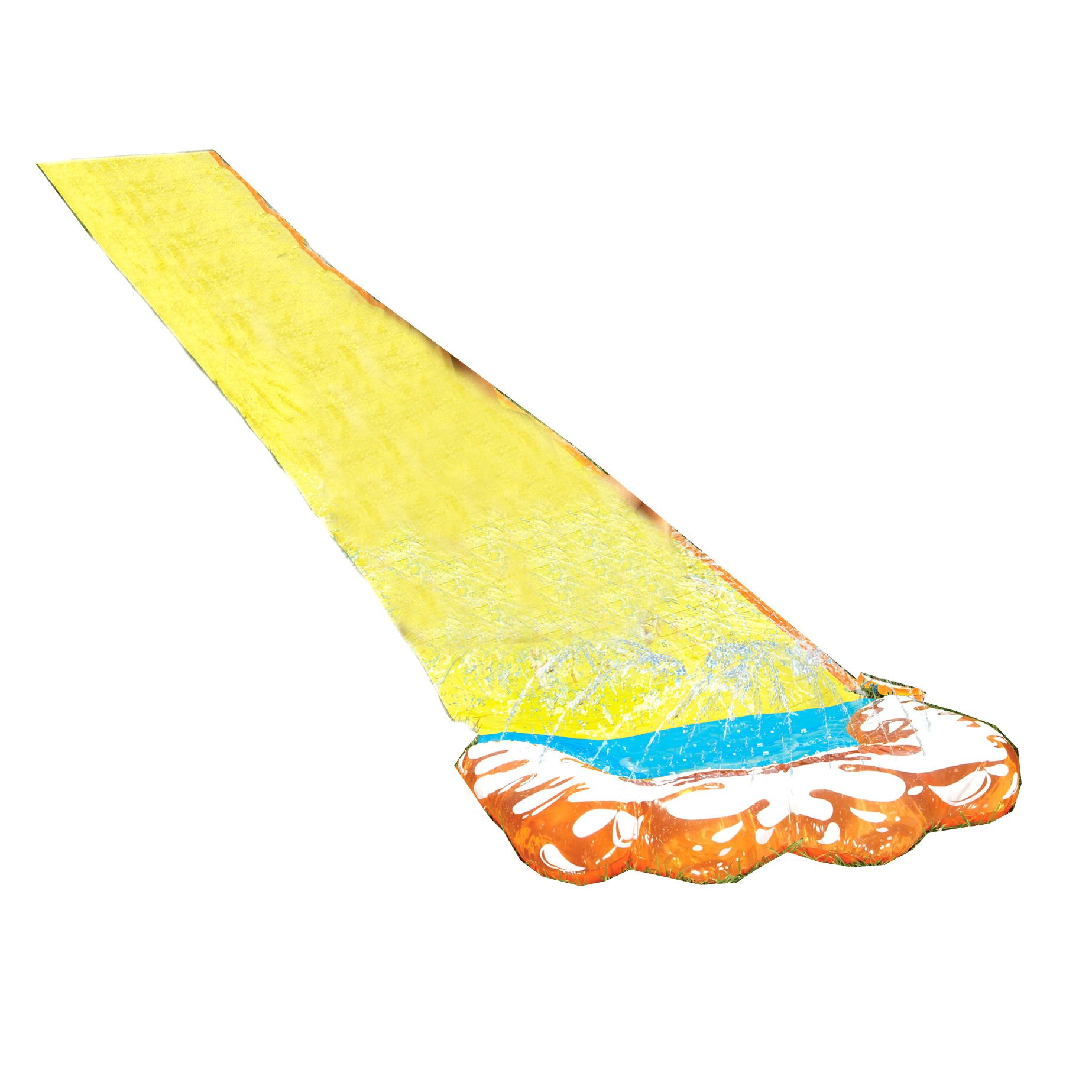 Inflatable Slip N Slide. This Big Sprinkler Hydroplane Kiddie Blow Up Above Ground Long Waterslide With Boogie Is Great For Kids & Children, Aqua Splash To Have Outdoor Water Fun With All Family.