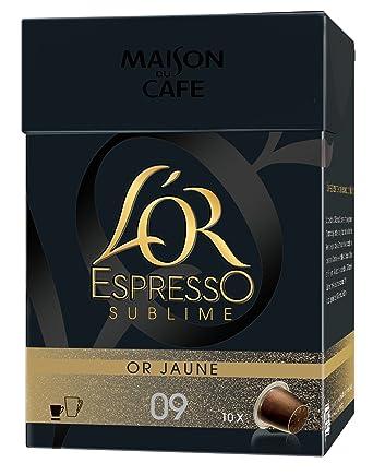 LOr Espresso Oro Express Dorado Amarillo Sublime 10 Cápsulas ...