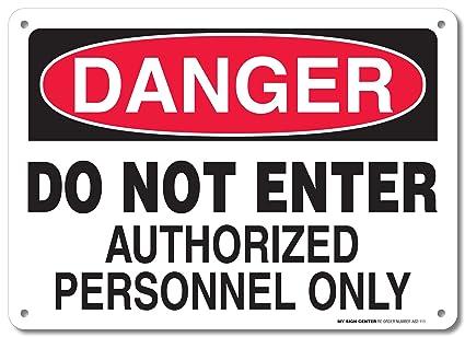 Amazon.com: Señal de peligro de no entrar en el personal ...