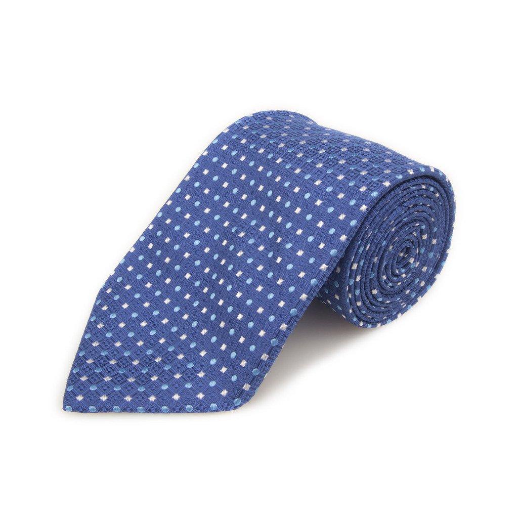 Robert Talbott Best Of Class Blue White And Light Blue Dots Woven Silk Tie
